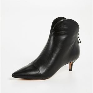 Schutz | Leather Rosyen Black Kitten Heel Bootie
